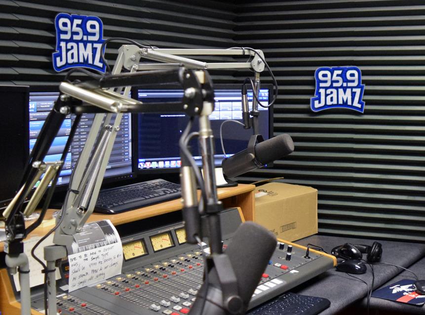 JAMZ radio broadcast studio